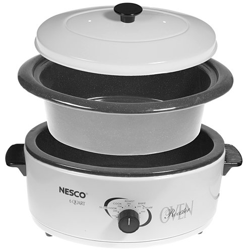 Electric Roaster Oven ~ Metal ware corp nesco qt roaster oven ivory ebay