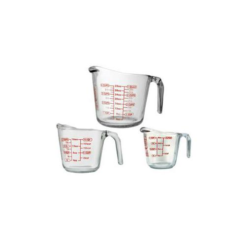Anchor Hocking 92032l11 3 PC Open Handle Measuring Cup 92032L11