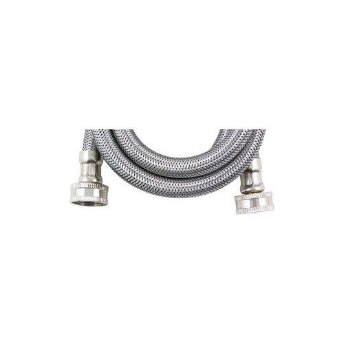 certified appliance wm48ss braided stainless steel washing machine hose 4ft ebay. Black Bedroom Furniture Sets. Home Design Ideas