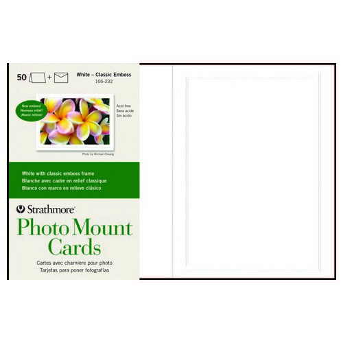 STRATHMORE / PACON PAPERS SM105232 PHOTO MOUNT WHITE CLASSIC EMBOSSED BORDER...