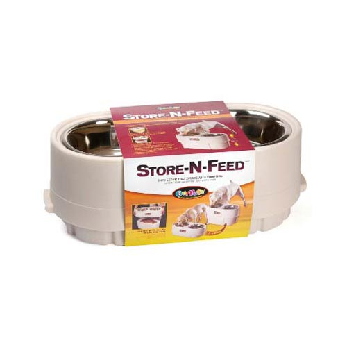 OUR PETS 2400013244 White OUR PETS STORE-N-FEED LARGE WHITE 22 X 10 X 8 2400013244
