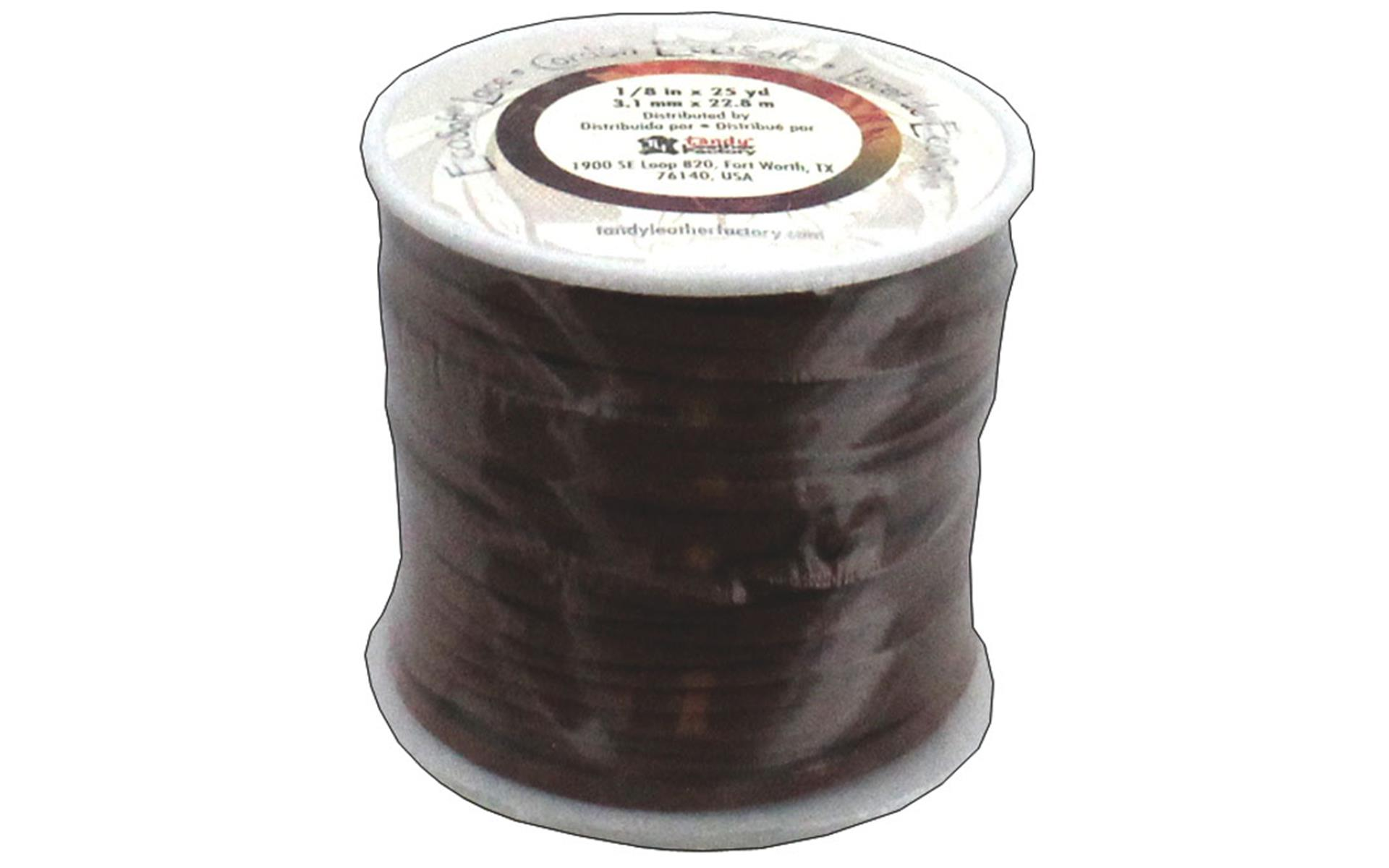 Leather Factory EcoSoft Lace Spool Dark Brown 1//8 x 25yd